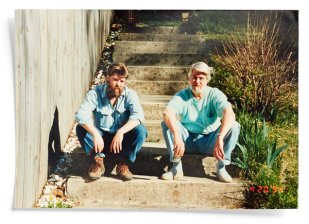 Chris and Andrew Offutt at home in Haldeman, Ky., in 1994 from NYTimes Magazine