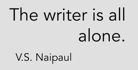 writer alone